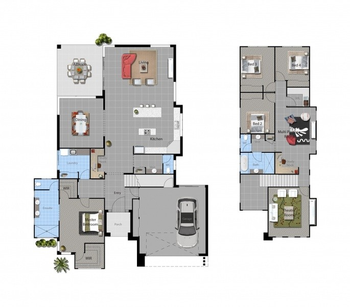 4 beds, 2 baths, 2 cars, 37.00 square main