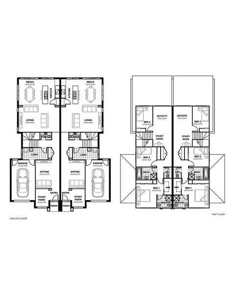 Double storey Gibsons - Duplex Dual Occupancy by Burbank Homes SA