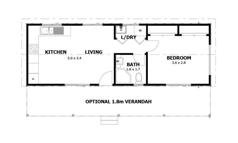 Single storey Waratah Granny Flat by anchor homes