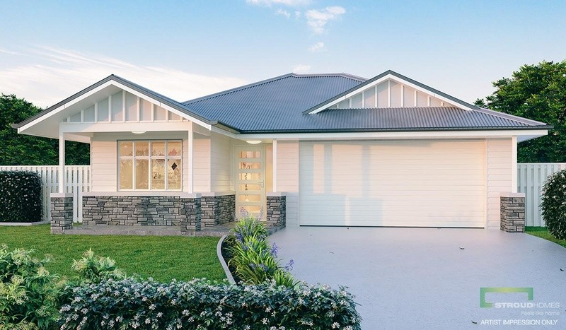 Single storey Paddington 240 House by Stroud Homes Melbourne North