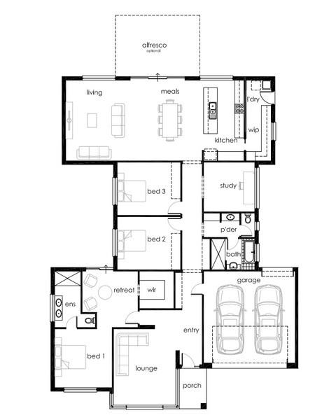 4 beds, 2 baths, 2 cars, 29.33 square floorplan