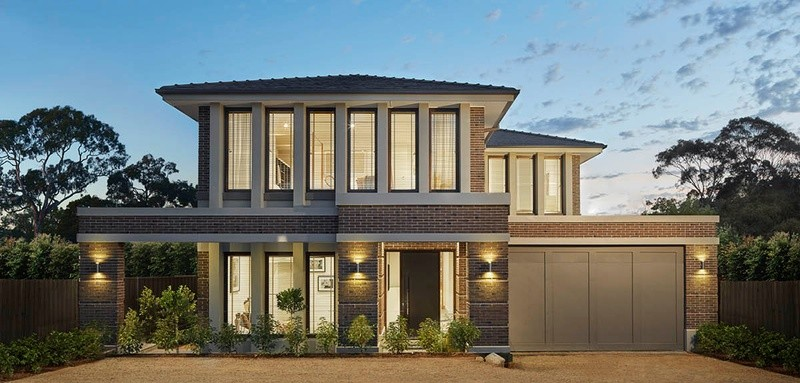 Double storey Neo Classical House by Glenvill Custom Homes