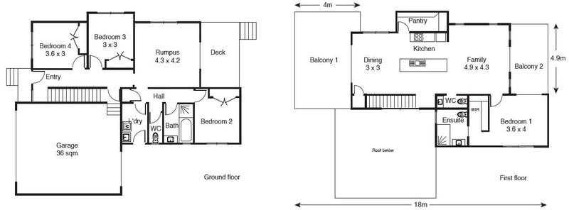 4 beds, 2.5 baths, 2 cars, 31.96 square floorplan