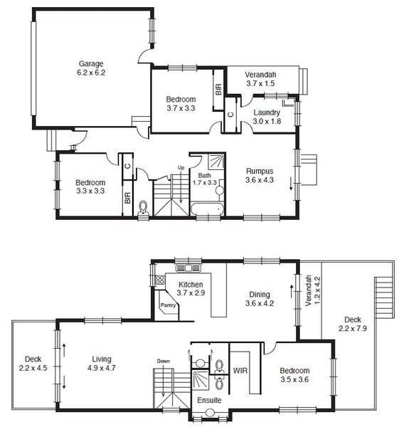 3 beds, 2.5 baths, 2 cars, 27.40 square floorplan