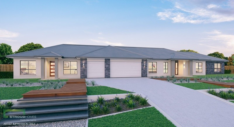 Single storey Kentucky 428 with Granny Flat House by Stroud Homes Melbourne North