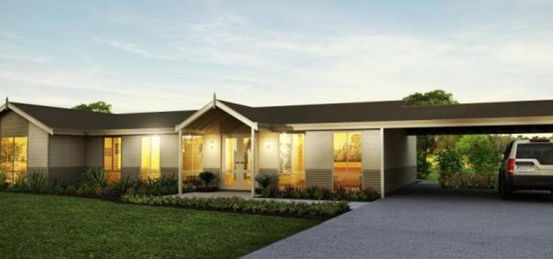 Single storey The Sandfire House by TR Homes