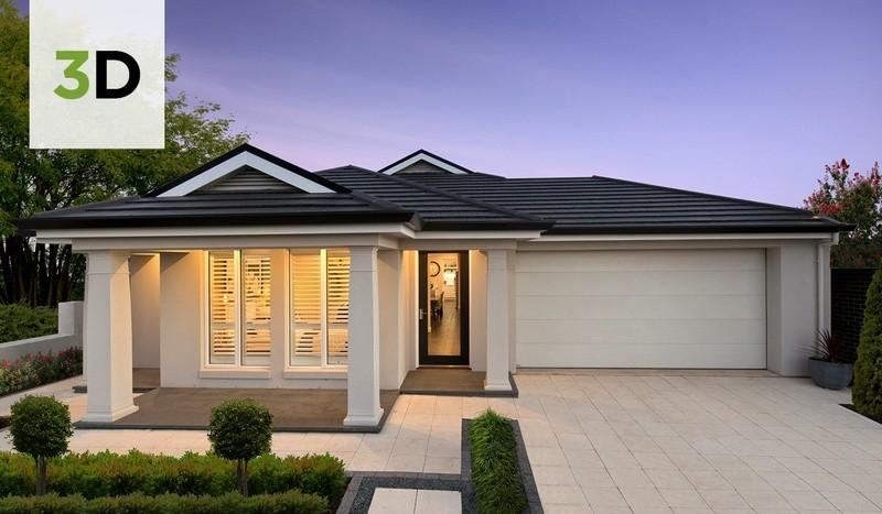 Single storey Contemporary House by Rivergum Homes SA