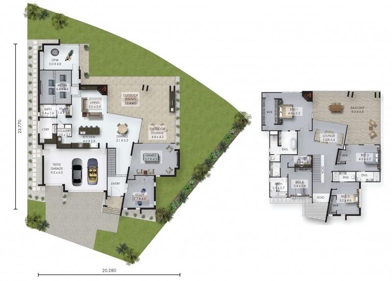 4 beds, 5 baths, 3 cars, 64.26 square main