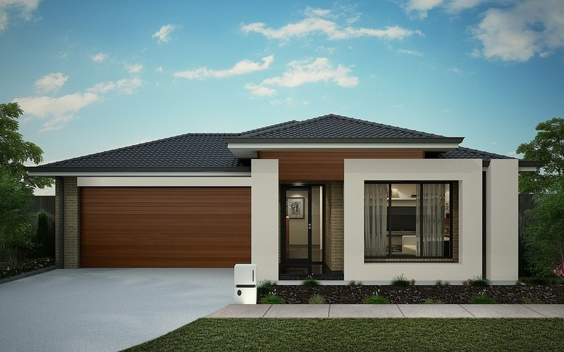 Single storey Contemporary House by Omnia Homes