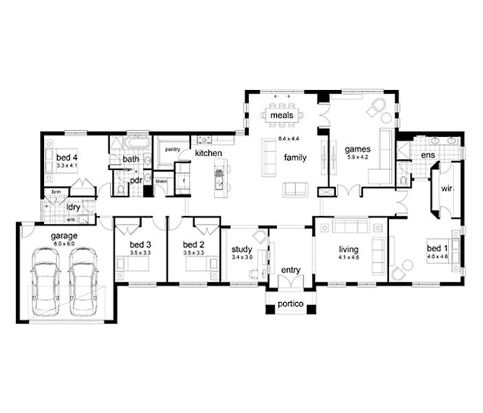 Devonport By Dennis Family Homes 4 Beds 2 Baths 2 Cars 34 48 Square New Home Design