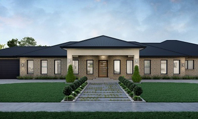 Single storey Gippslander House by SJD Homes