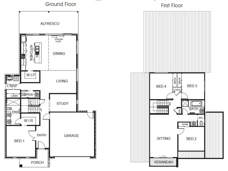 4 beds, 2.5 baths, 2 cars, 31.39 square floorplan