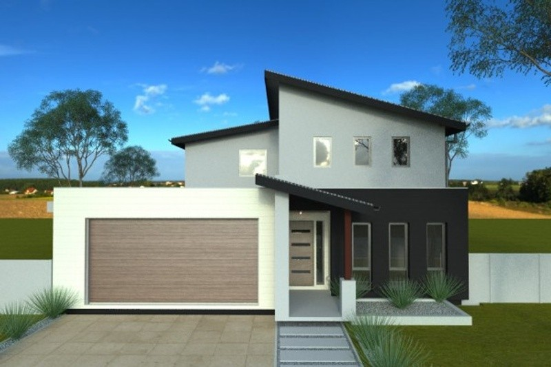 Double storey Angleside House by Langford Jones Homes