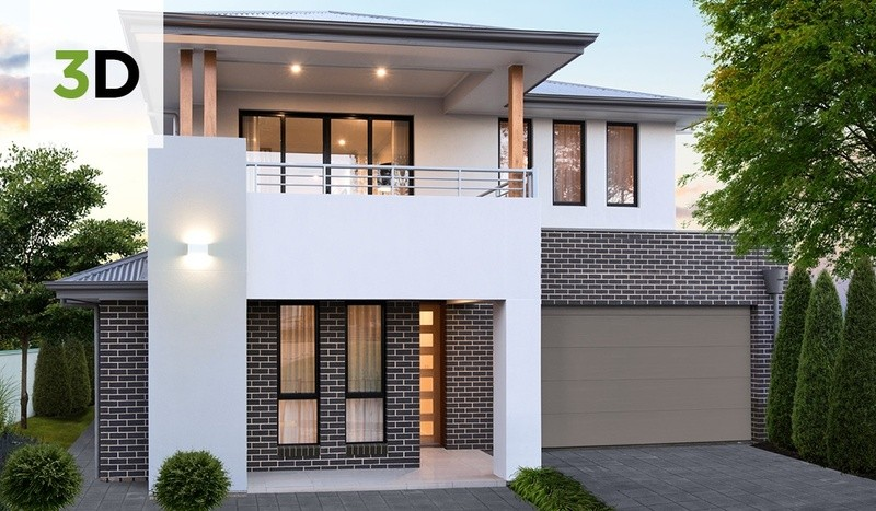 Double storey Contemporary House by Rivergum Homes SA
