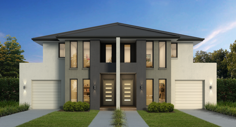 Double storey The Lexton Dual Occupancy by Cavalier Homes