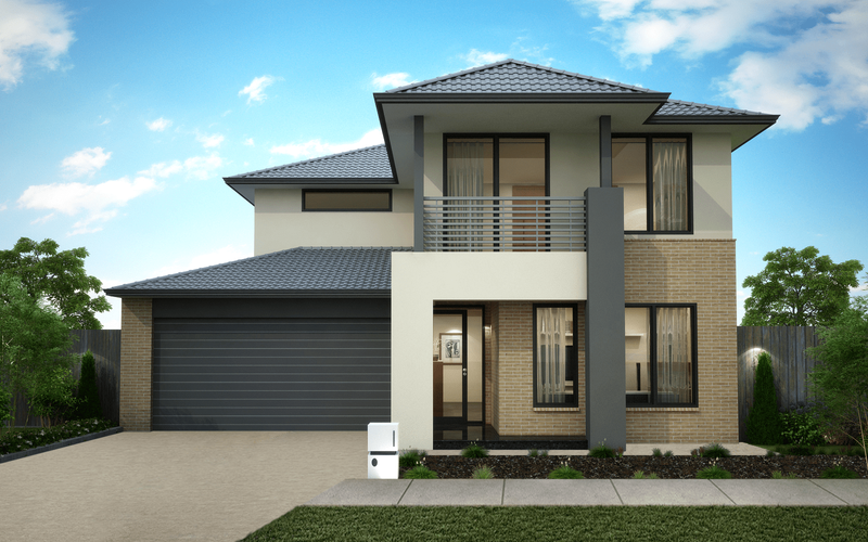 Double storey Contemporary House by Omnia Homes