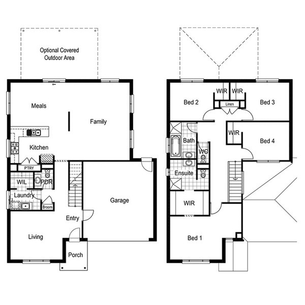 4 beds, 2 baths, 2 cars, 27.50 square main