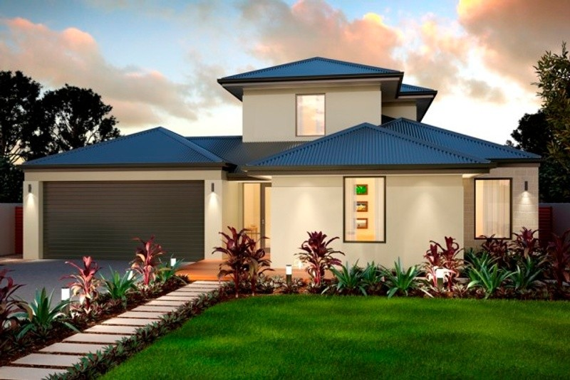Double storey The Sandover House by New Level Homes