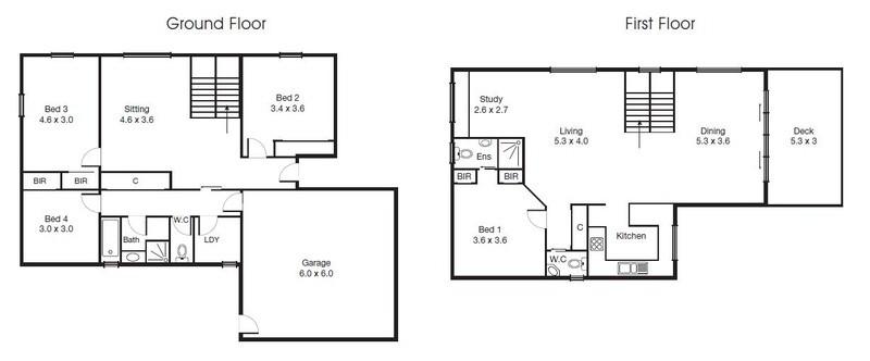 4 beds, 2.5 baths, 2 cars, 26.21 square floorplan