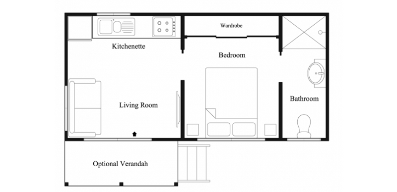 1 beds, 1 baths, 0 cars, 2.60 square facade