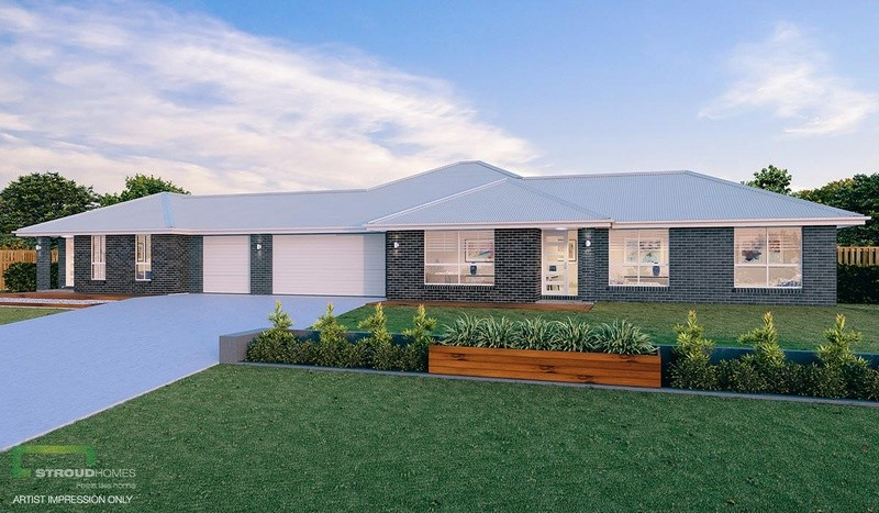 Single storey Beechmont 318 with Granny Flat House by Stroud Homes Melbourne North