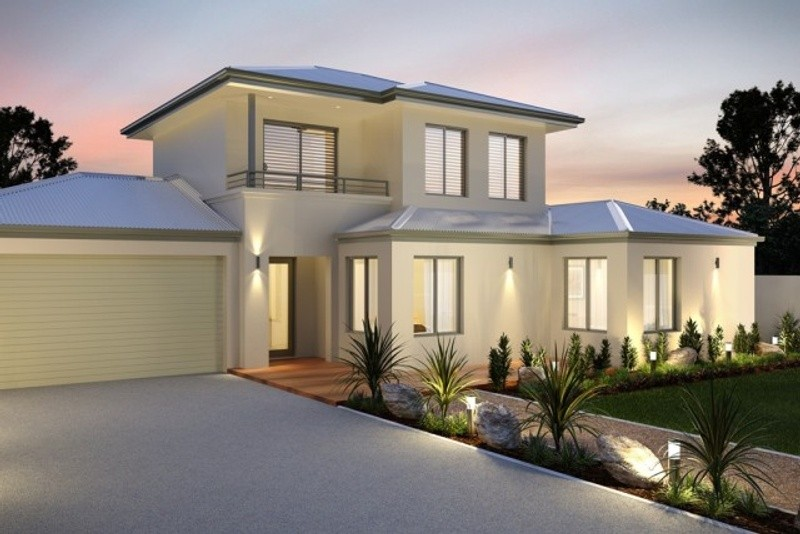Double storey The Harthill Balcony House by New Level Homes
