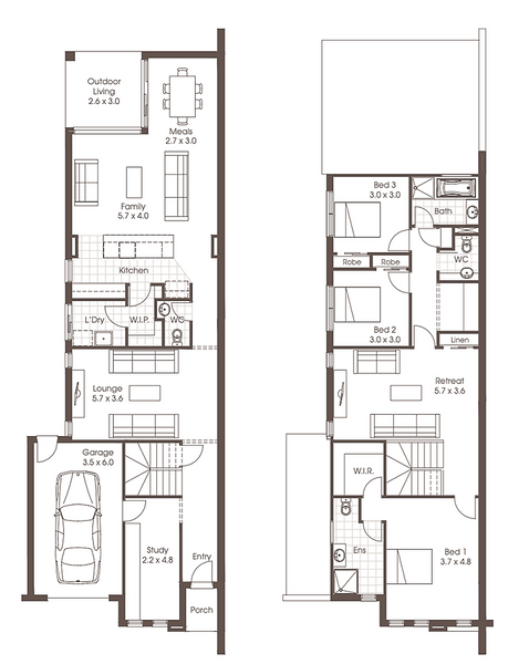 Double storey The Lexton Dual Occupancy design