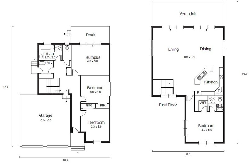 3 beds, 2.5 baths, 2 cars, 27.70 square floorplan