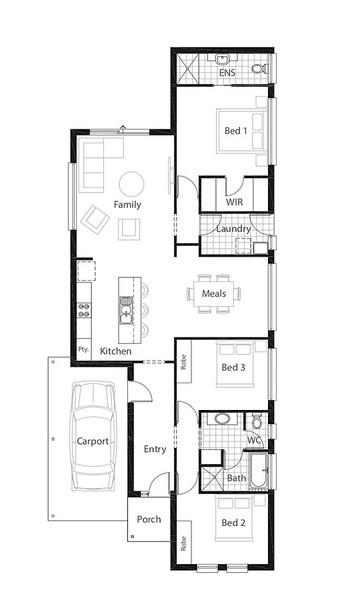 3 beds, 2 baths, 1 cars, 17.12 square floorplan