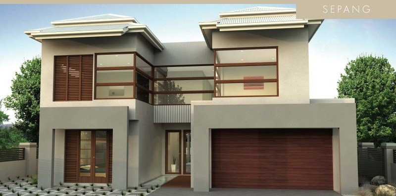 Double storey Sepang House by David Reid Homes