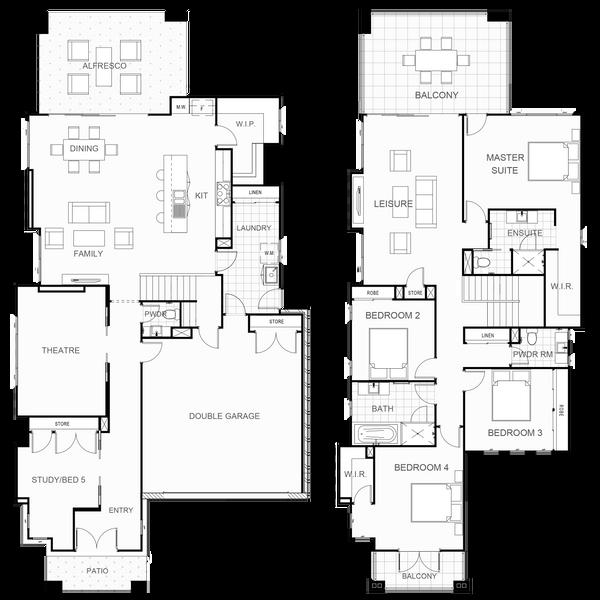 Double storey Arlington 357 House design