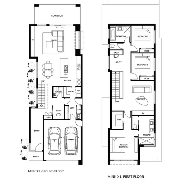 Double storey Mink X1 House design
