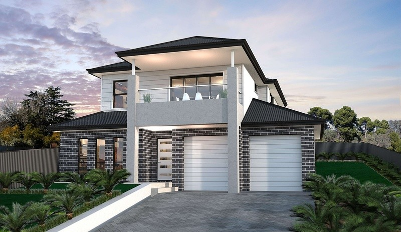 Double storey Patio 265 House by Affordable Family Homes VIC
