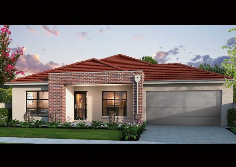 Single storey Display Home Series Courtyard 240 House by Affordable Family Homes VIC