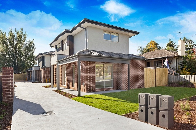 Double storey Tristania Street, Doveton - 3 Townhouses Dual Occupancy by KGN Homes