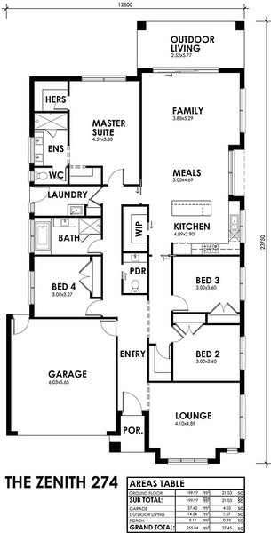 Single storey Zenith House design