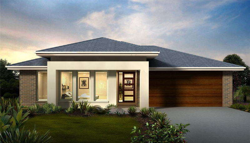 Single storey Chevron 29 House by Orbit Homes