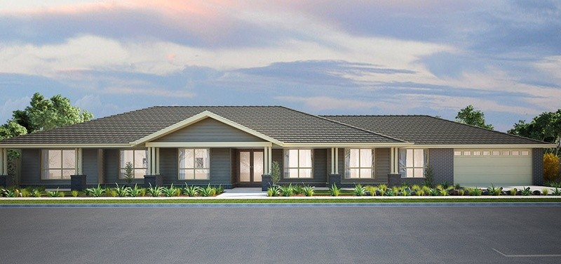 Single storey Windsor House by Burbank Homes QLD