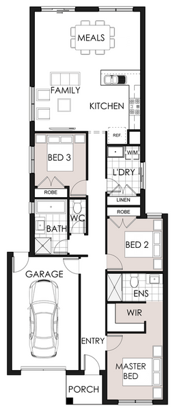 Single storey Maya House by Omnia Homes