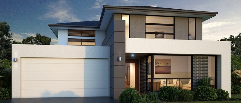 Double storey RIVER 38 House by Sienna Homes