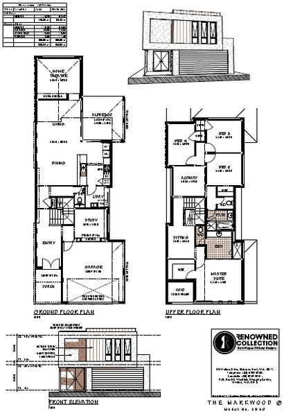 Double storey THE MARKWOOD House design