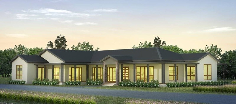 Single storey Acreage House by Tasbuilt Homes