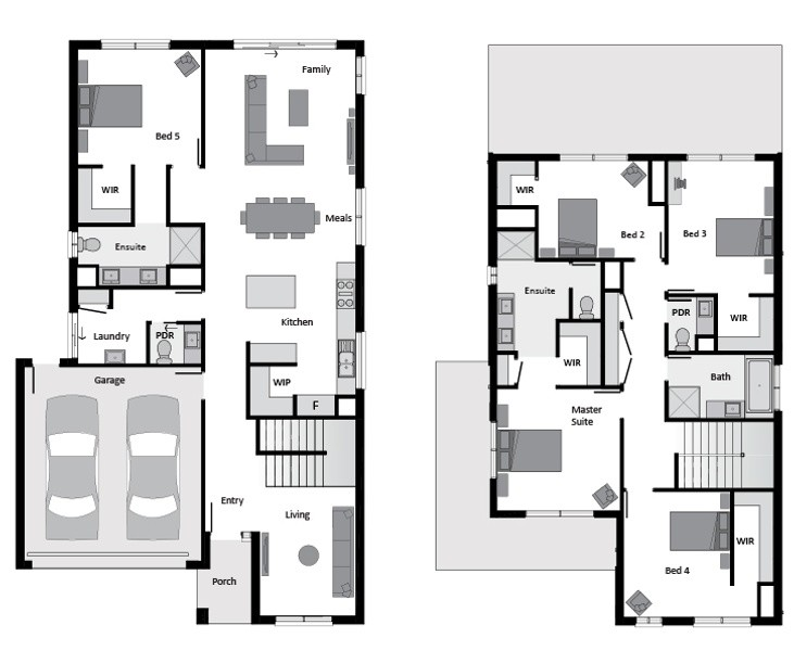 Double storey Liberty 305 House design