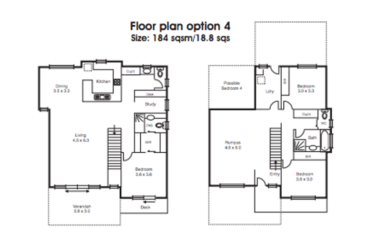 4 beds, 2.5 baths, 2 cars, 27.38 square floorplan