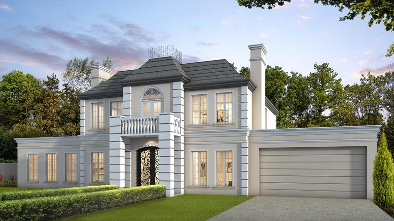 Double storey New French Provincial House by Berstan Homes