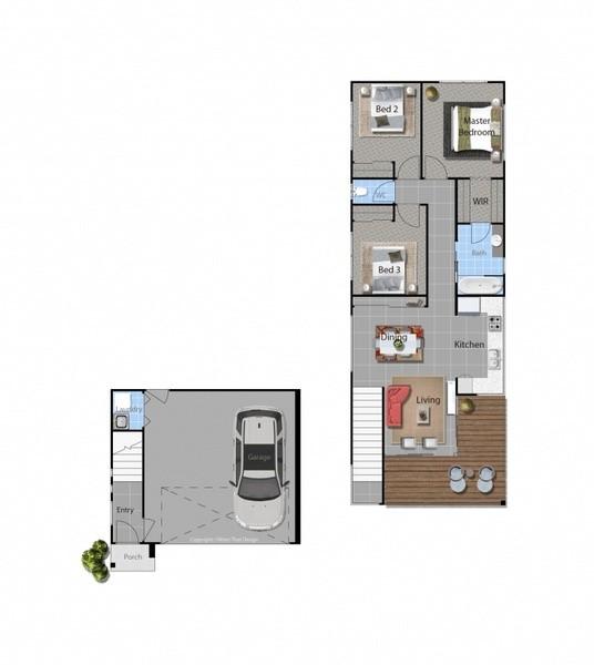 3 beds, 1 baths, 2 cars, 14.20 square floorplan
