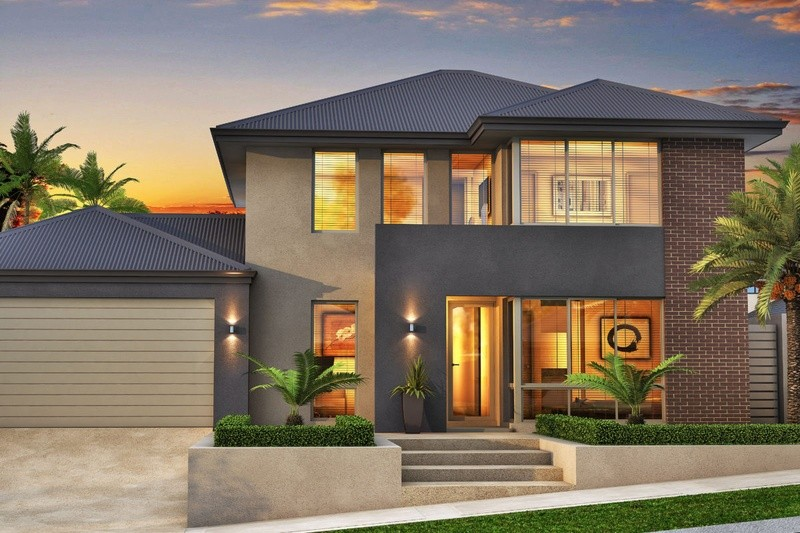 Double storey Contemporary House by in-vogue