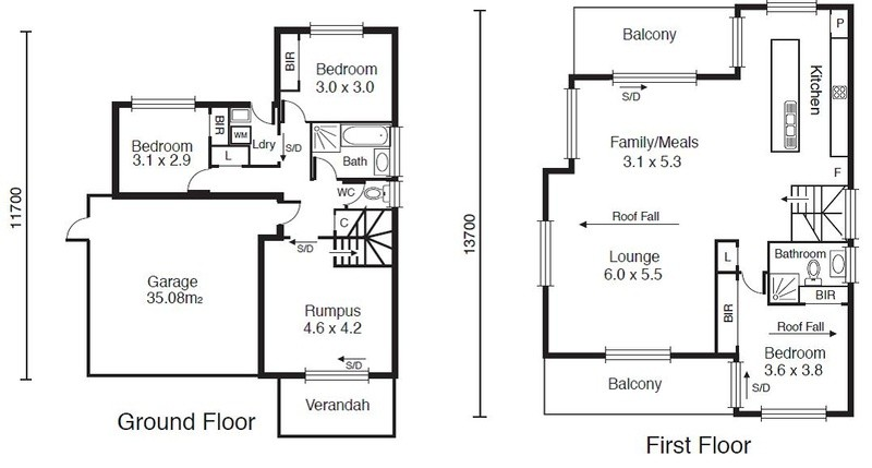 3 beds, 2.5 baths, 2 cars, 26.79 square floorplan