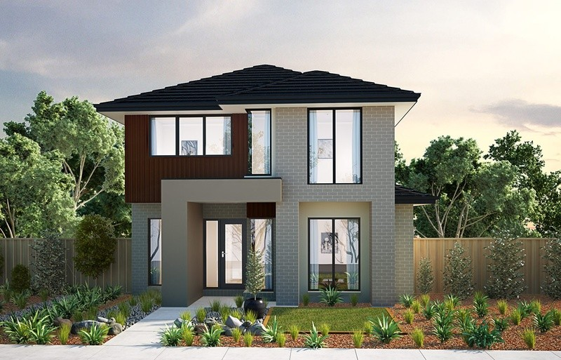 Double storey Cashmere - Rear Garage House by Burbank Homes QLD