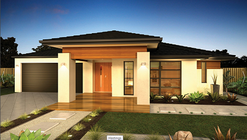 Single storey Contemporary House by Dennis Family Homes